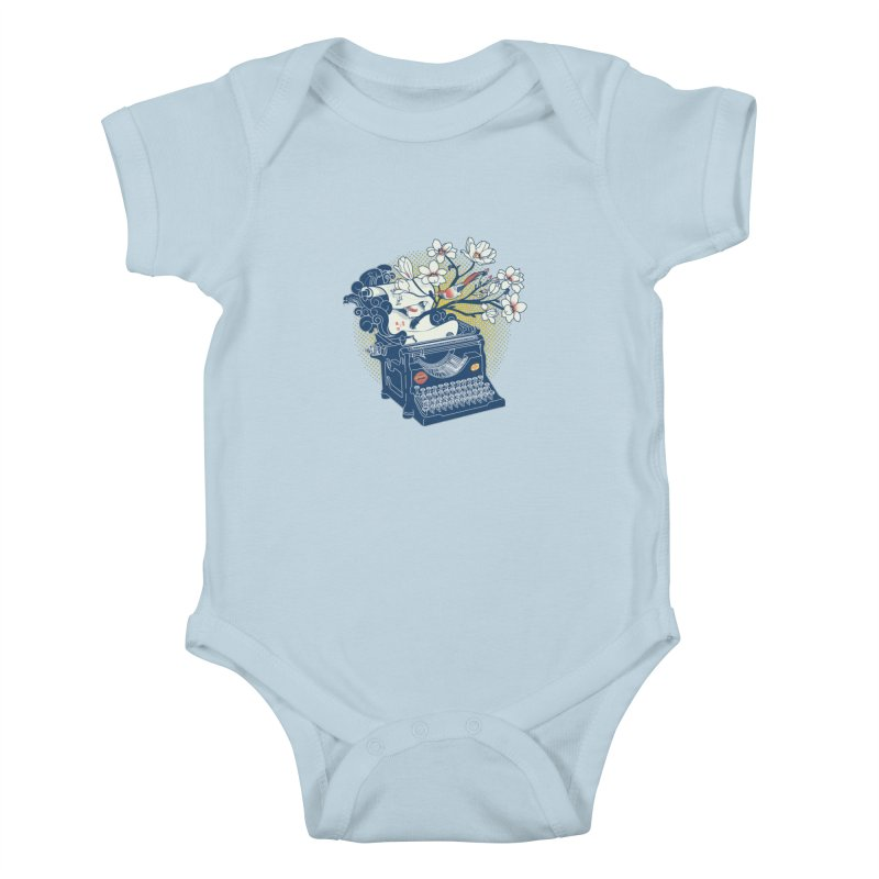 Blossom Kids Baby Bodysuit by micronisus's Artist Shop