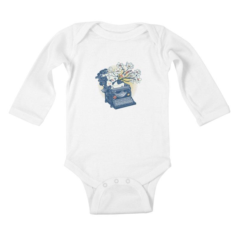 Blossom Kids Baby Longsleeve Bodysuit by micronisus's Artist Shop