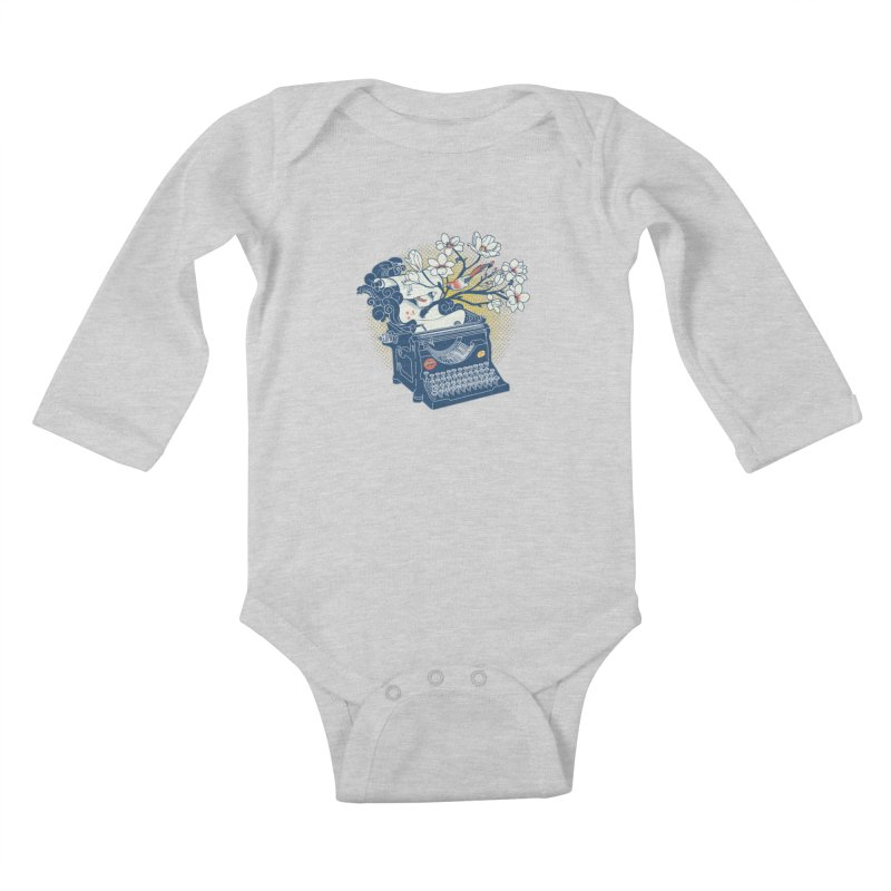 Blossom Kids Baby Longsleeve Bodysuit by micronisus's Artist Shop
