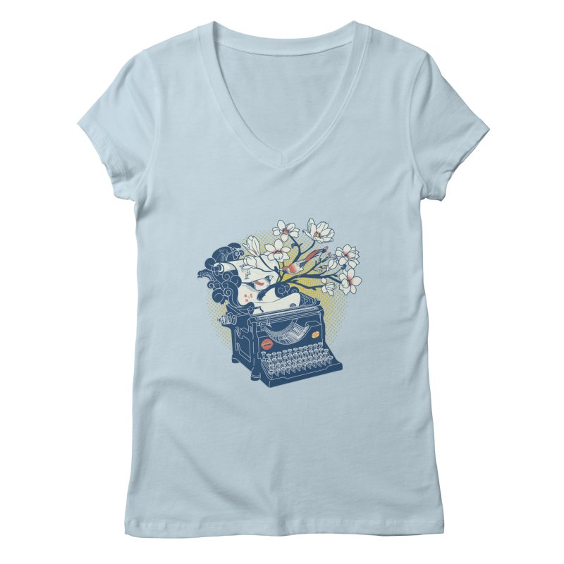 Blossom Women's V-Neck by micronisus's Artist Shop