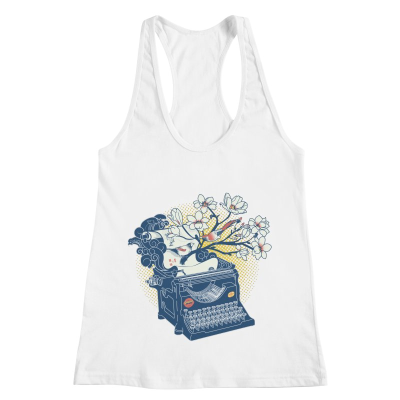 Blossom Women's Racerback Tank by micronisus's Artist Shop