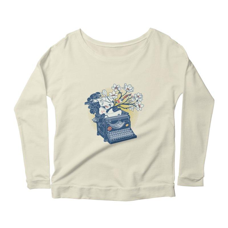 Blossom Women's Scoop Neck Longsleeve T-Shirt by micronisus's Artist Shop