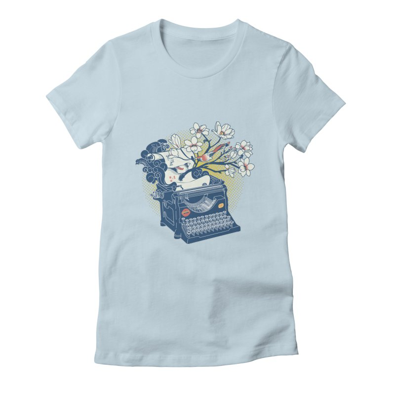 Blossom Women's Fitted T-Shirt by micronisus's Artist Shop