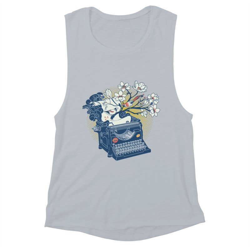 Blossom Women's Muscle Tank by micronisus's Artist Shop