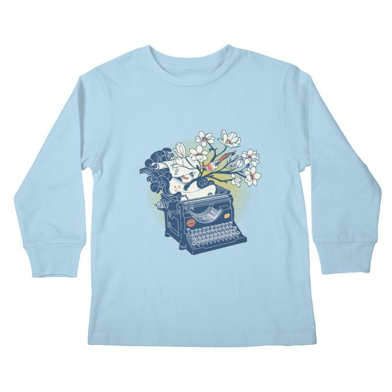Blossom Kids Longsleeve T-Shirt by micronisus's Artist Shop