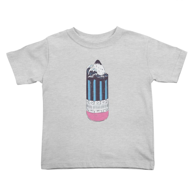 Wave of Art Kids Toddler T-Shirt by micronisus's Artist Shop