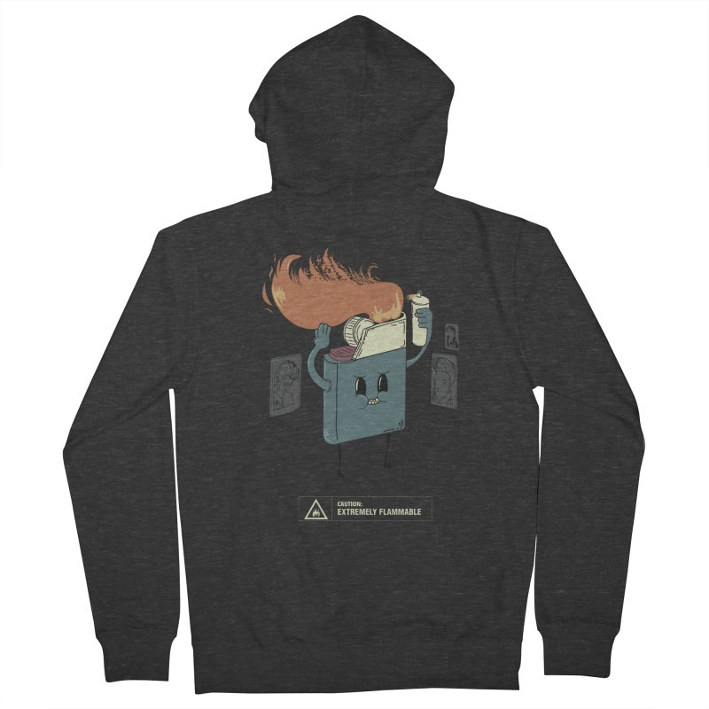 Spray Men's French Terry Zip-Up Hoody by micronisus's Artist Shop