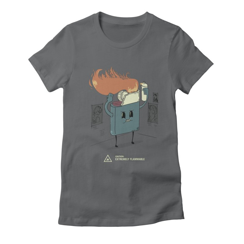 Spray Women's Fitted T-Shirt by micronisus's Artist Shop