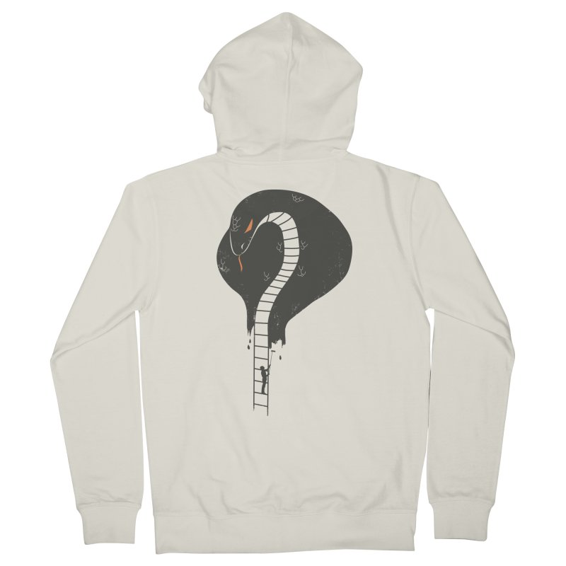 highly dangerous Men's French Terry Zip-Up Hoody by micronisus's Artist Shop