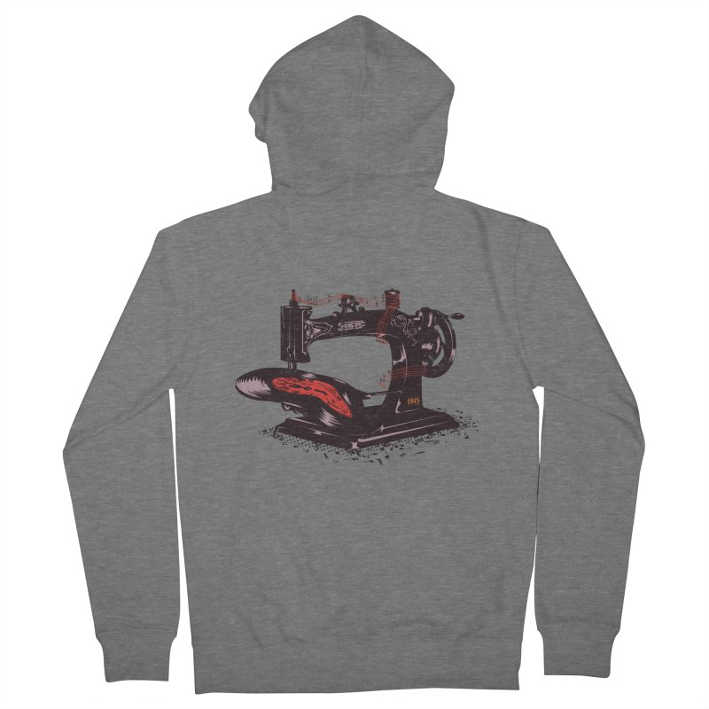 Sew Women's French Terry Zip-Up Hoody by micronisus's Artist Shop