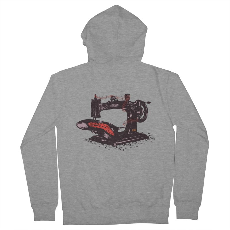 Sew Men's French Terry Zip-Up Hoody by micronisus's Artist Shop