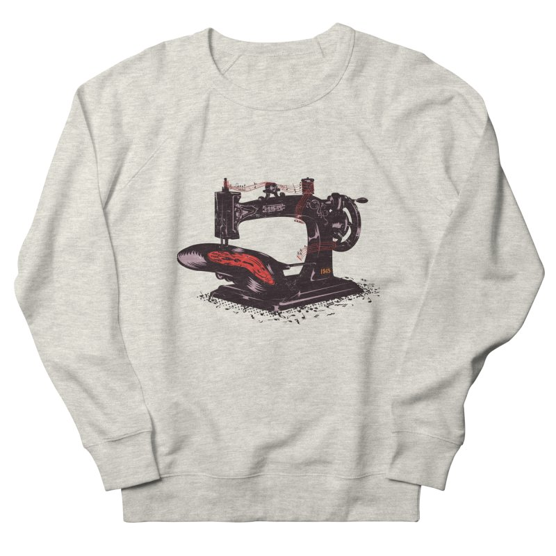 Sew Women's French Terry Sweatshirt by micronisus's Artist Shop
