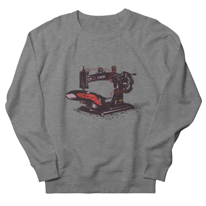 Sew Men's French Terry Sweatshirt by micronisus's Artist Shop