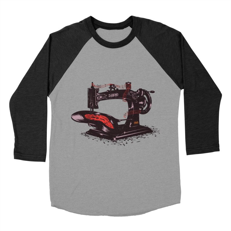 Sew Women's Baseball Triblend Longsleeve T-Shirt by micronisus's Artist Shop