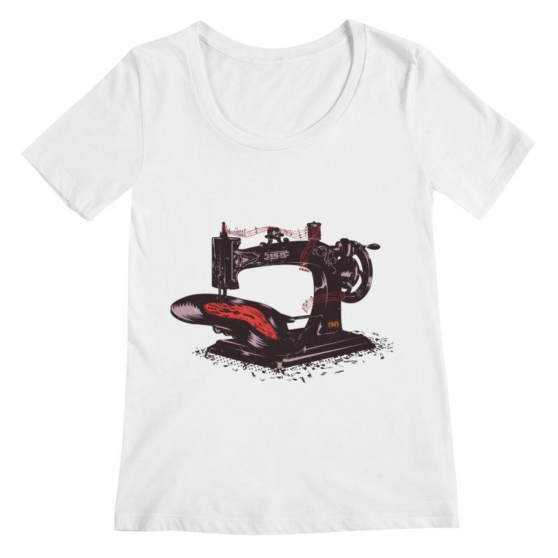Sew Women's Regular Scoop Neck by micronisus's Artist Shop