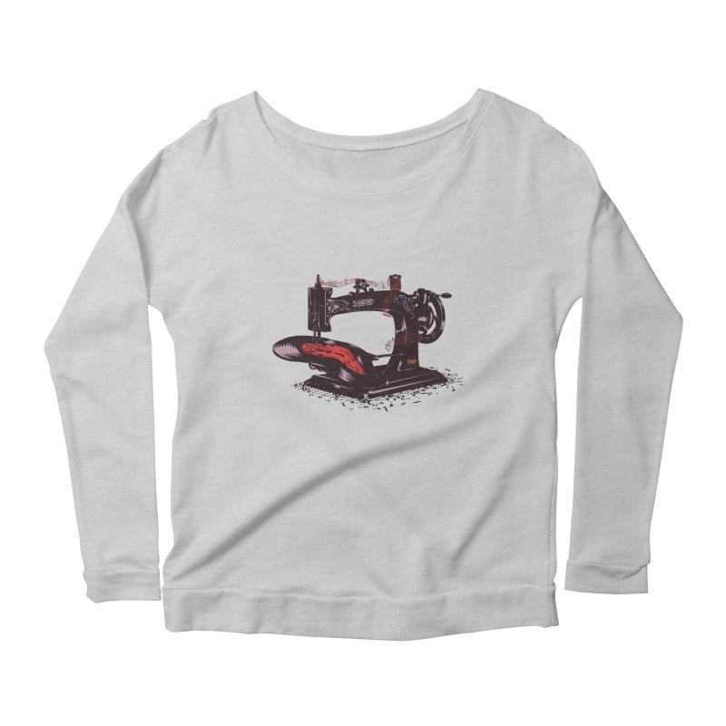 Sew Women's Scoop Neck Longsleeve T-Shirt by micronisus's Artist Shop