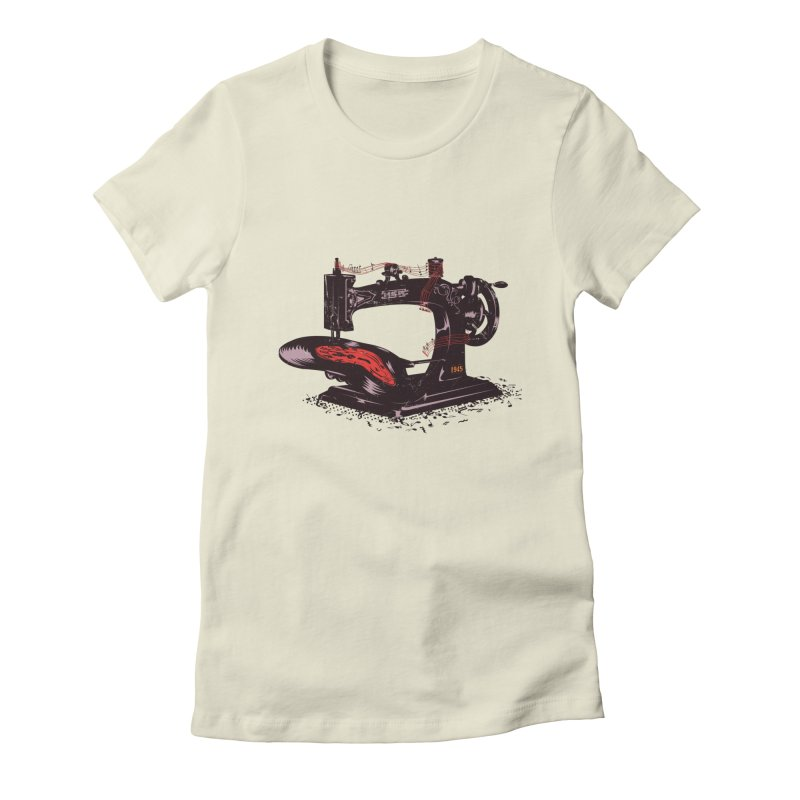 Sew Women's Fitted T-Shirt by micronisus's Artist Shop