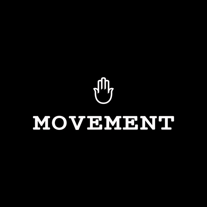 The middleasta MOVEMENT white logo T Men's T-Shirt by middleasta's Gift Shop