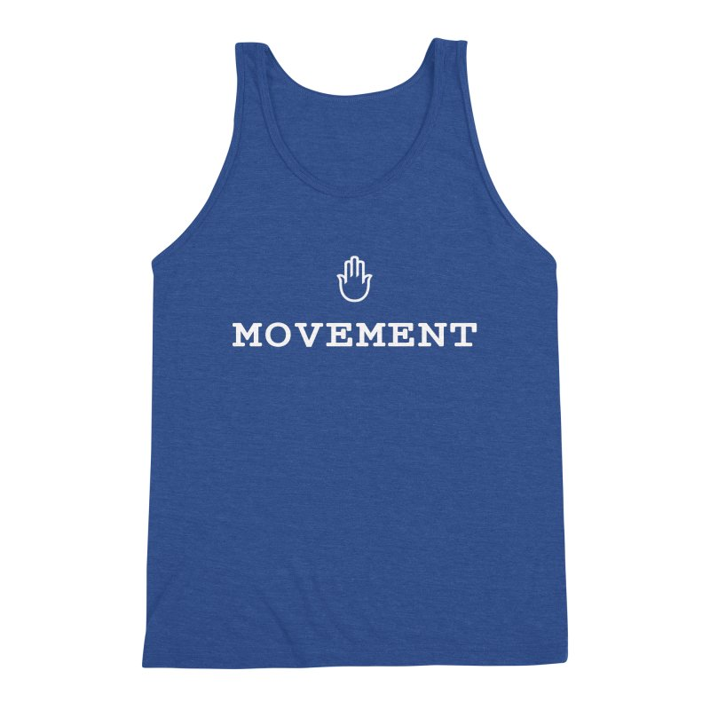 The middleasta MOVEMENT white logo T Men's Tank by middleasta's Gift Shop