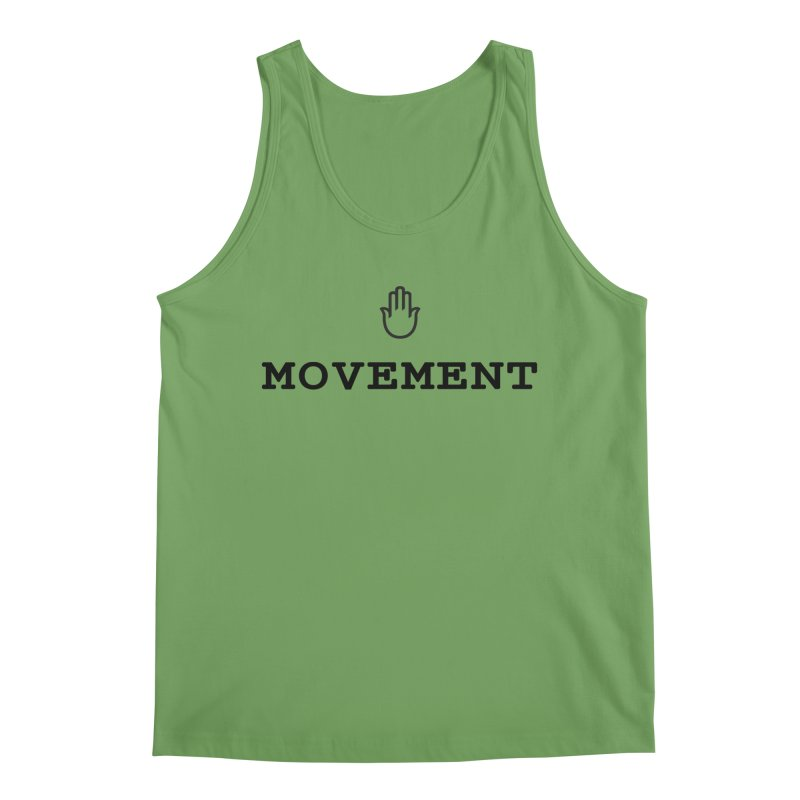 The middleasta MOVEMENT black logo T Men's Tank by middleasta's Gift Shop