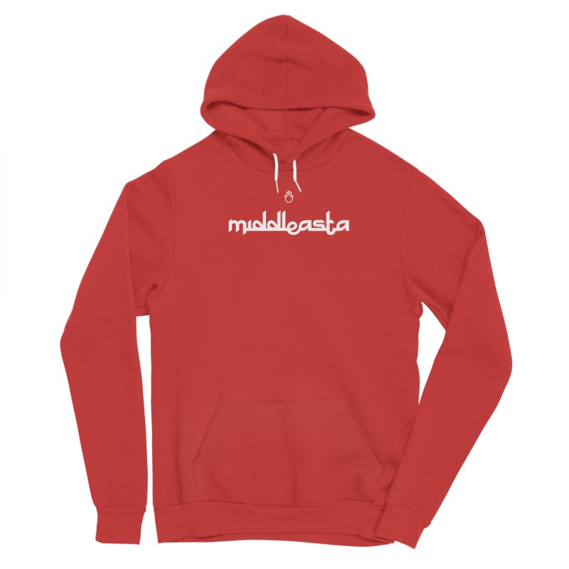middleasta WHITE LOGO T Men's Pullover Hoody by middleasta's Gift Shop