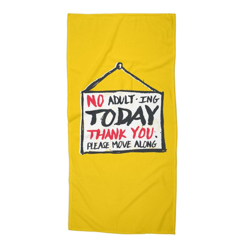 No Thank You Accessories Beach Towel by MidnightCoffee