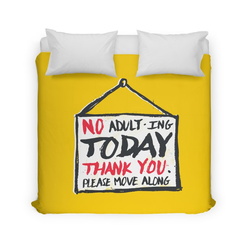 No Thank You Home Duvet by MidnightCoffee