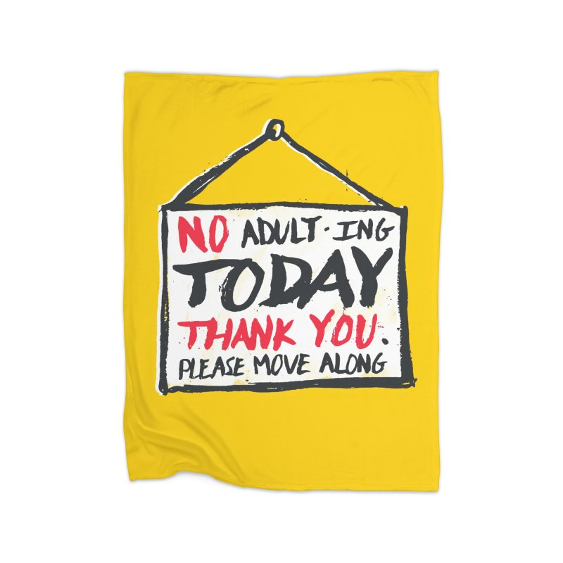 No Thank You Home Blanket by MidnightCoffee