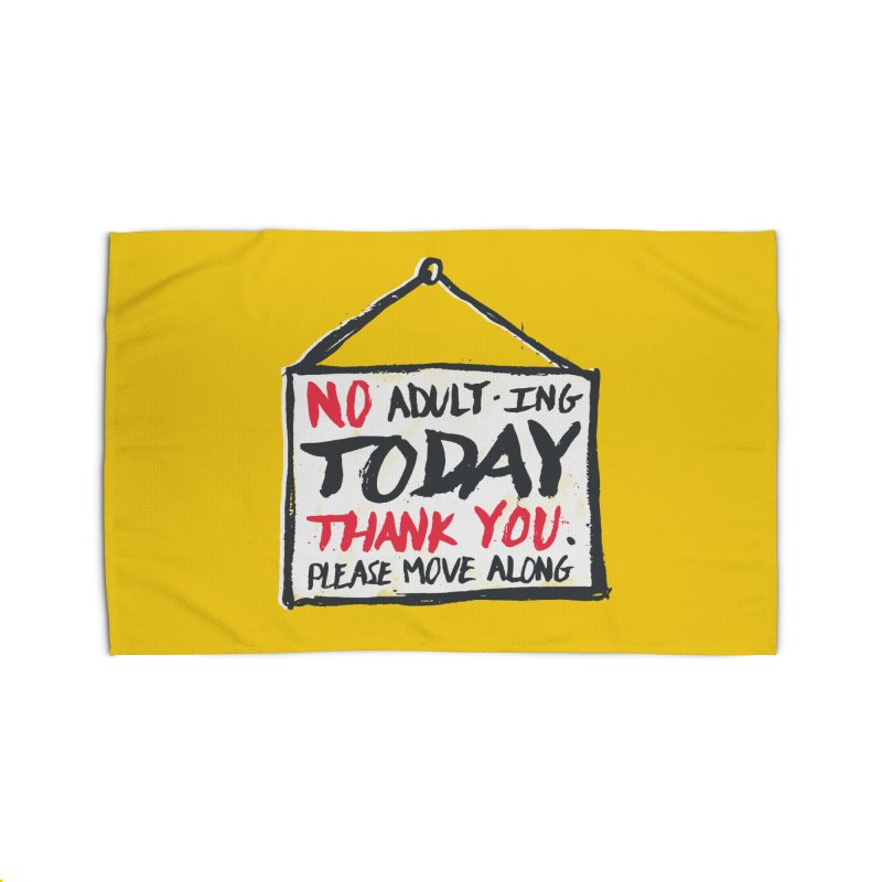 No Thank You Home Rug by MidnightCoffee