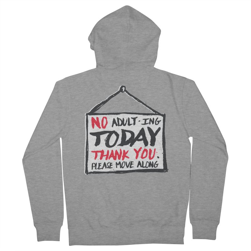 No Thank You Women's French Terry Zip-Up Hoody by MidnightCoffee