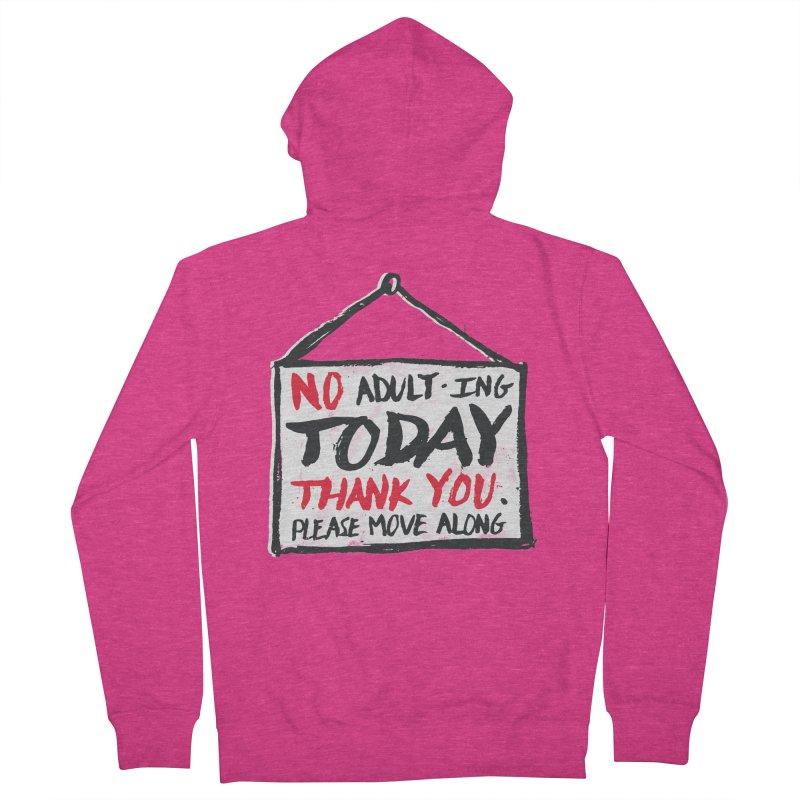 No Thank You Women's Zip-Up Hoody by MidnightCoffee