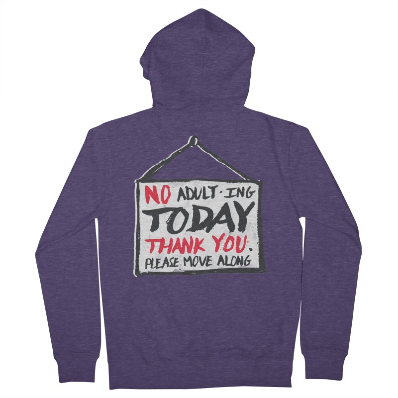 No Thank You Men's Zip-Up Hoody by MidnightCoffee