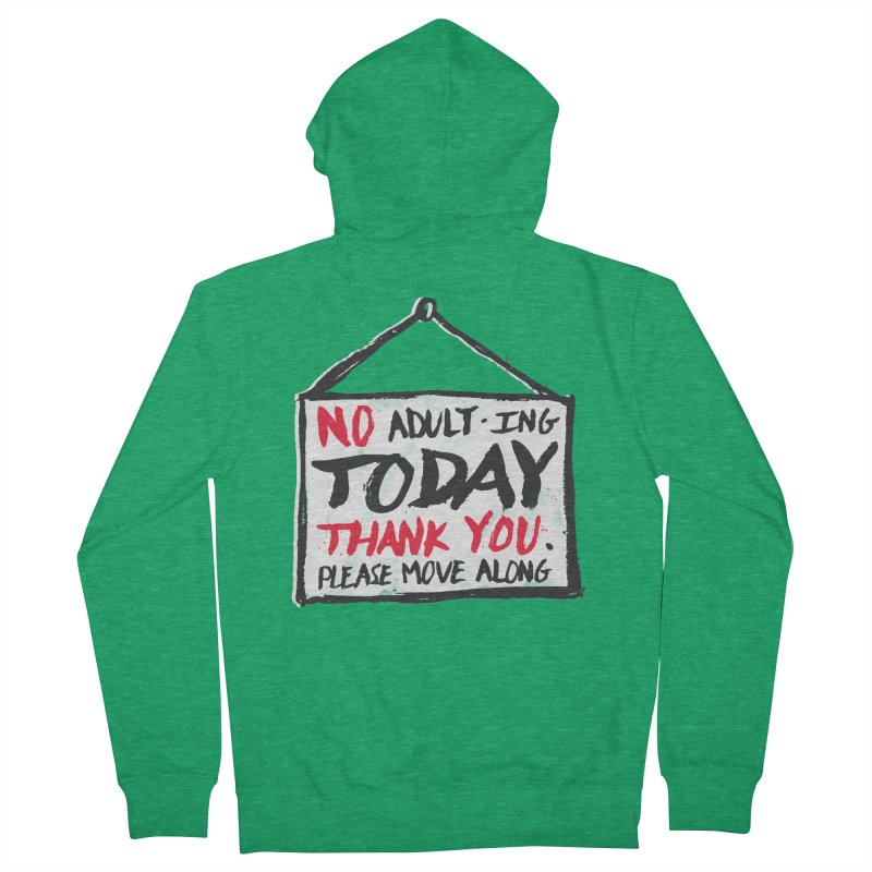 No Thank You Men's French Terry Zip-Up Hoody by MidnightCoffee