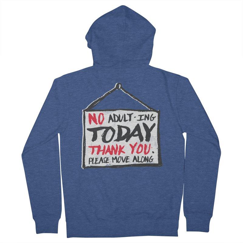 No Thank You Men's Zip-Up Hoody by MidnightCoffee