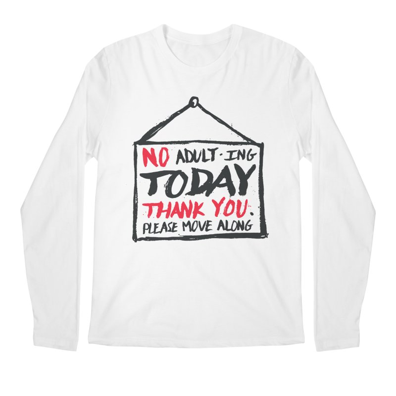 No Thank You Men's Regular Longsleeve T-Shirt by MidnightCoffee