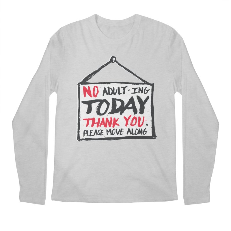 No Thank You Men's Longsleeve T-Shirt by MidnightCoffee