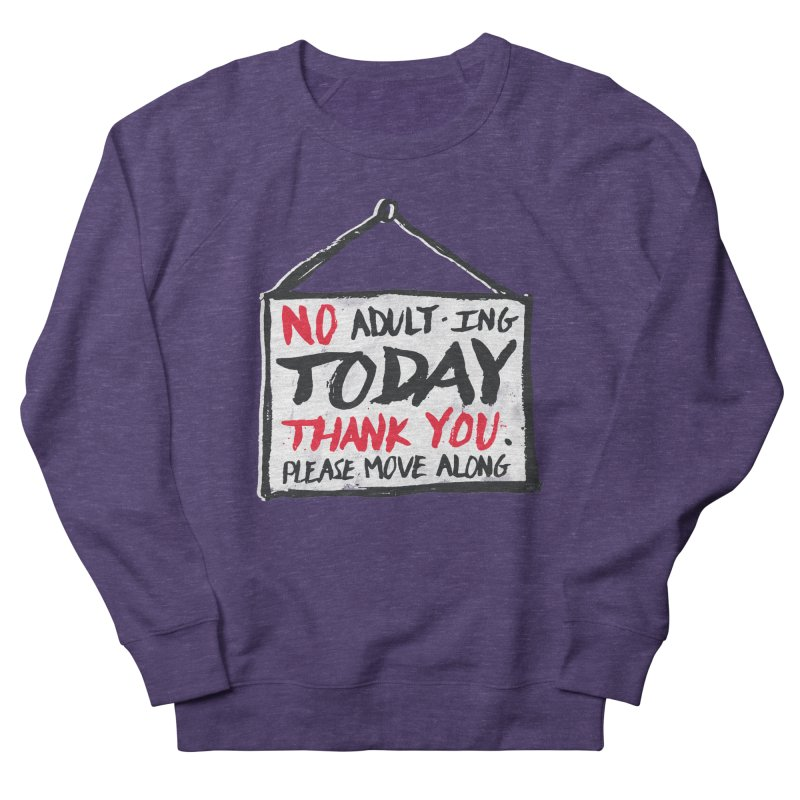 No Thank You Women's French Terry Sweatshirt by MidnightCoffee