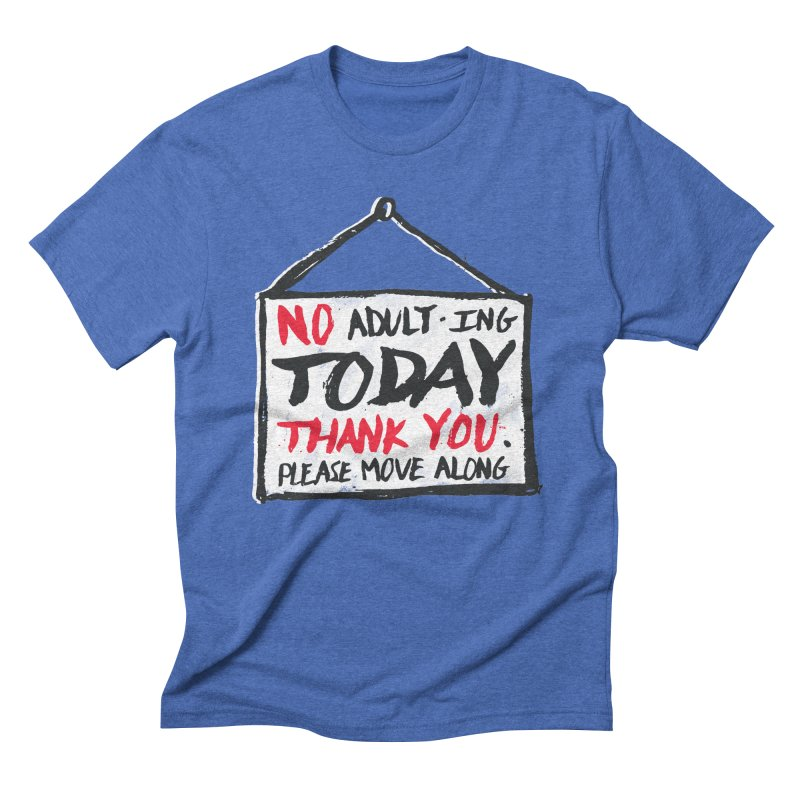 No Thank You Men's Triblend T-shirt by MidnightCoffee
