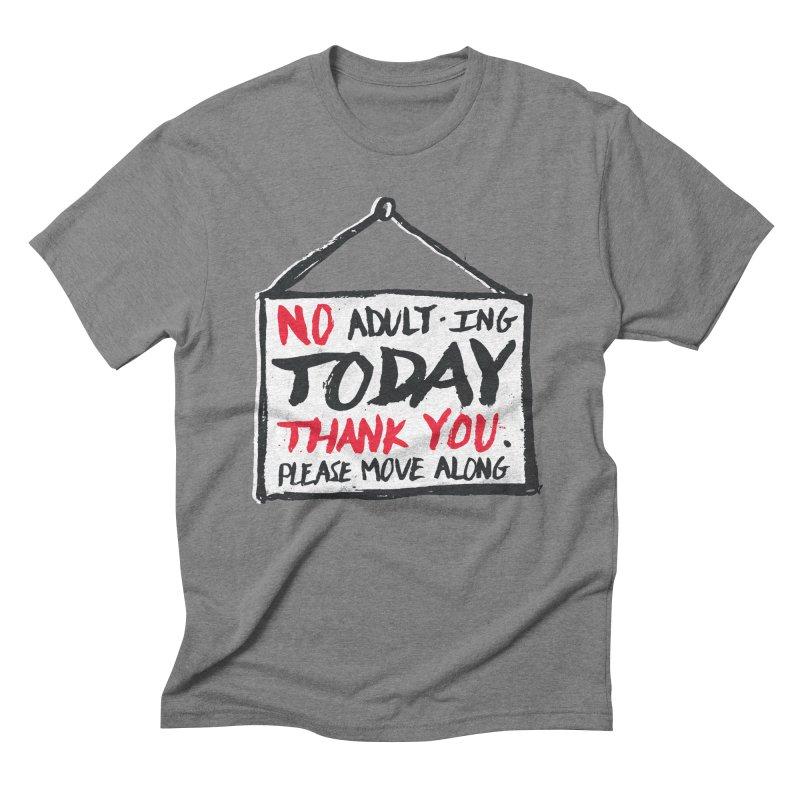 No Thank You Men's Triblend T-Shirt by MidnightCoffee