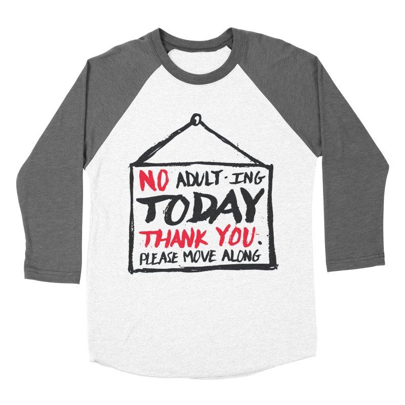No Thank You Women's Baseball Triblend Longsleeve T-Shirt by MidnightCoffee