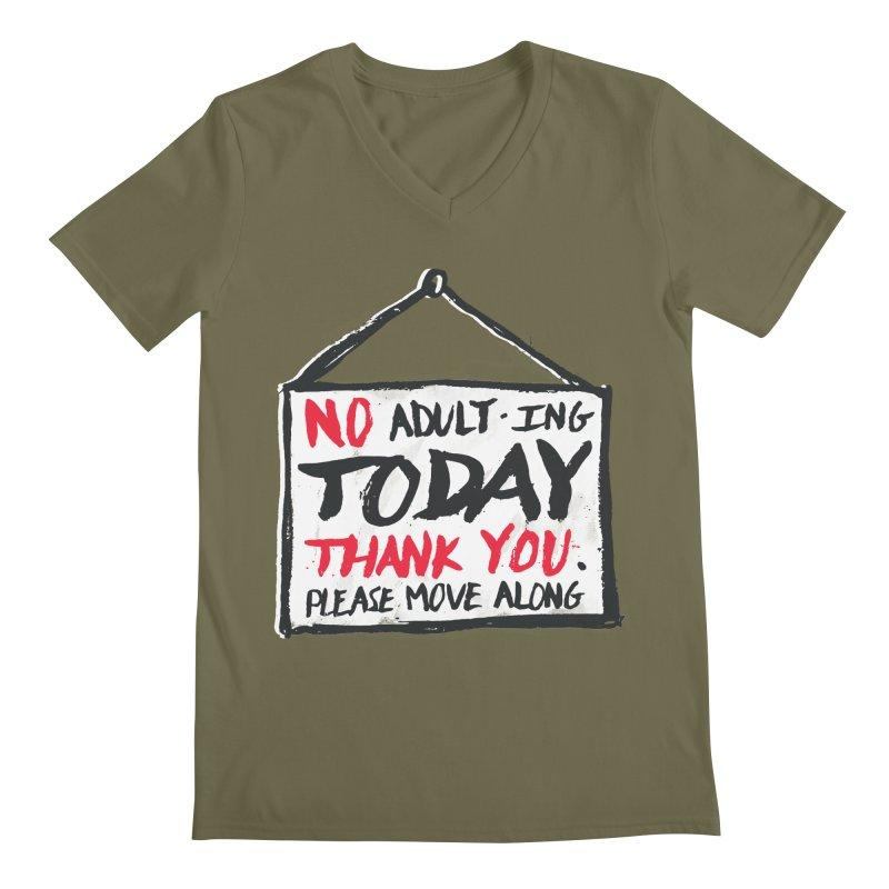No Thank You Men's V-Neck by MidnightCoffee