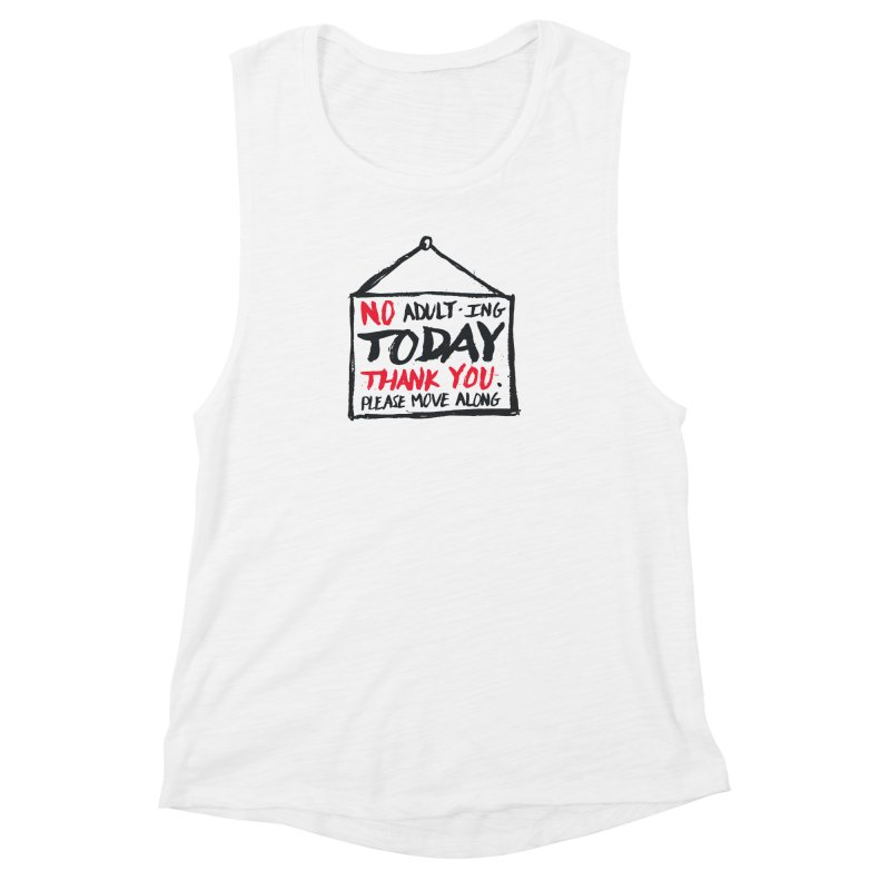 No Thank You Women's Muscle Tank by MidnightCoffee