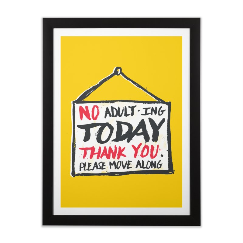No Thank You Home Framed Fine Art Print by MidnightCoffee