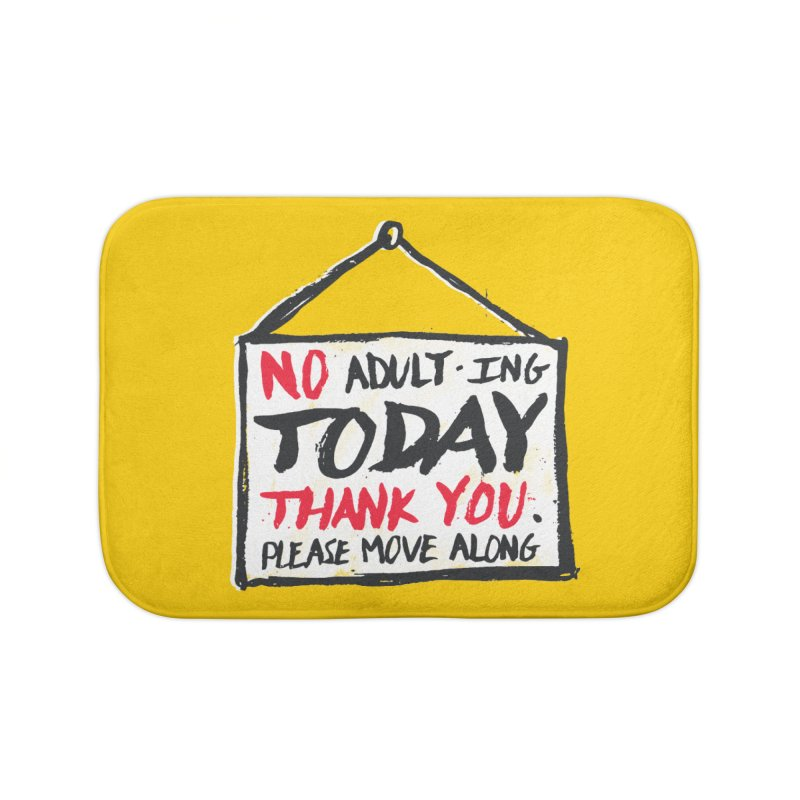 No Thank You Home Bath Mat by MidnightCoffee