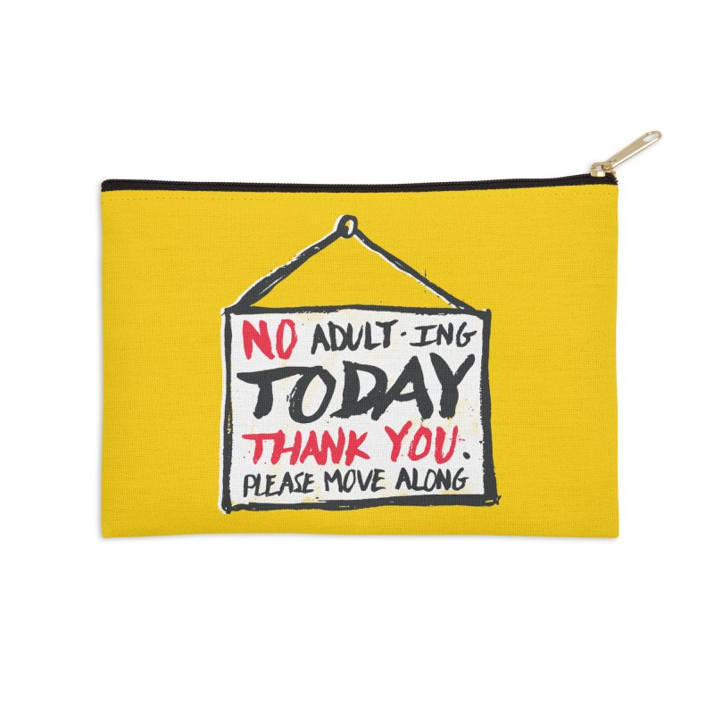 No Thank You Accessories Zip Pouch by MidnightCoffee