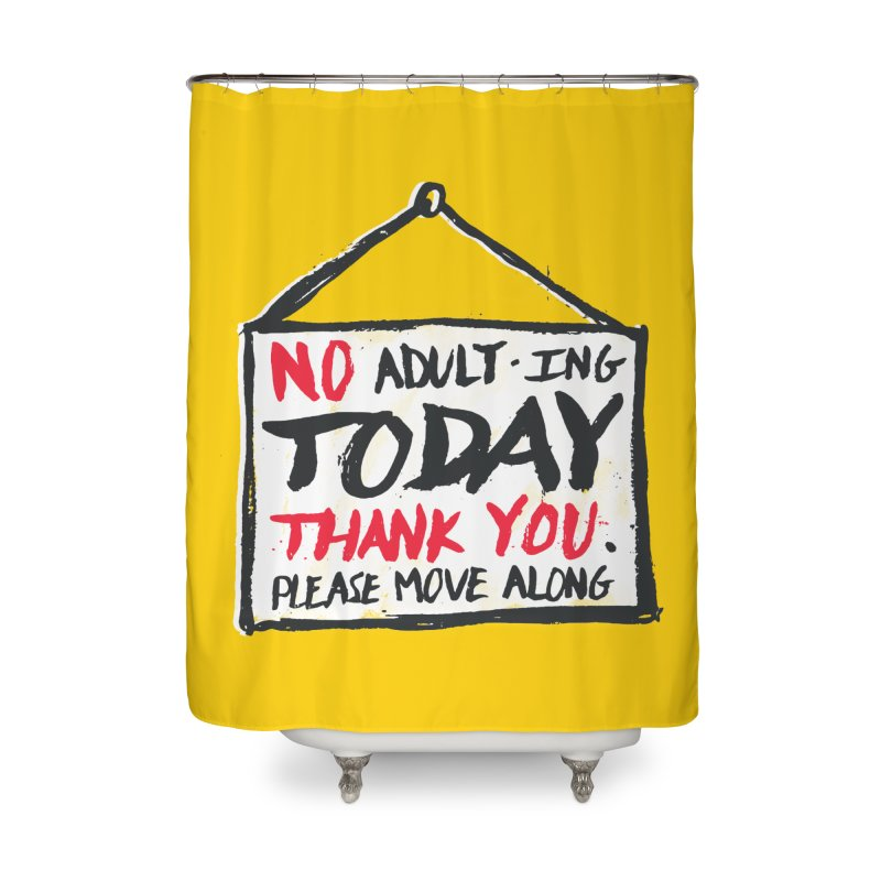 No Thank You Home Shower Curtain by MidnightCoffee