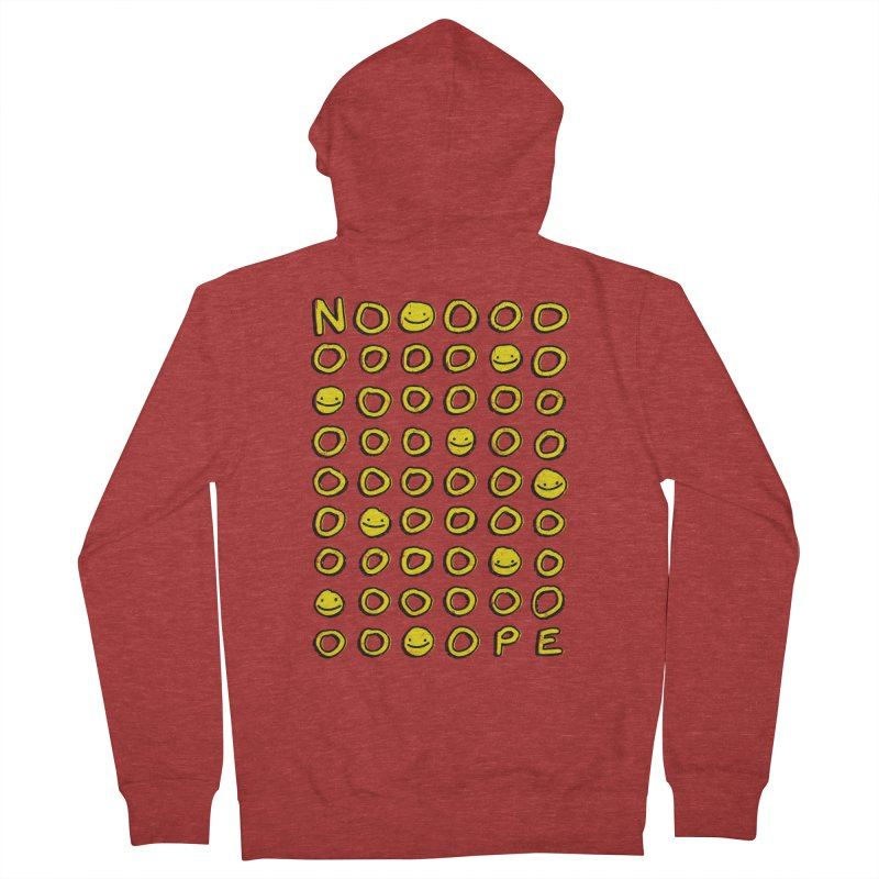 Say It With A Smile Men's French Terry Zip-Up Hoody by MidnightCoffee