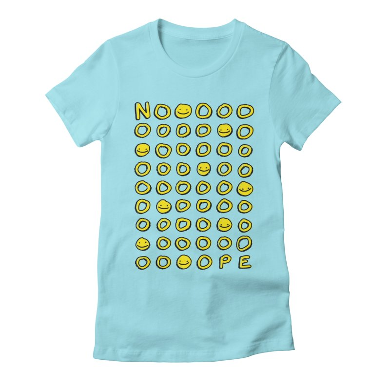Say It With A Smile Women's Fitted T-Shirt by MidnightCoffee