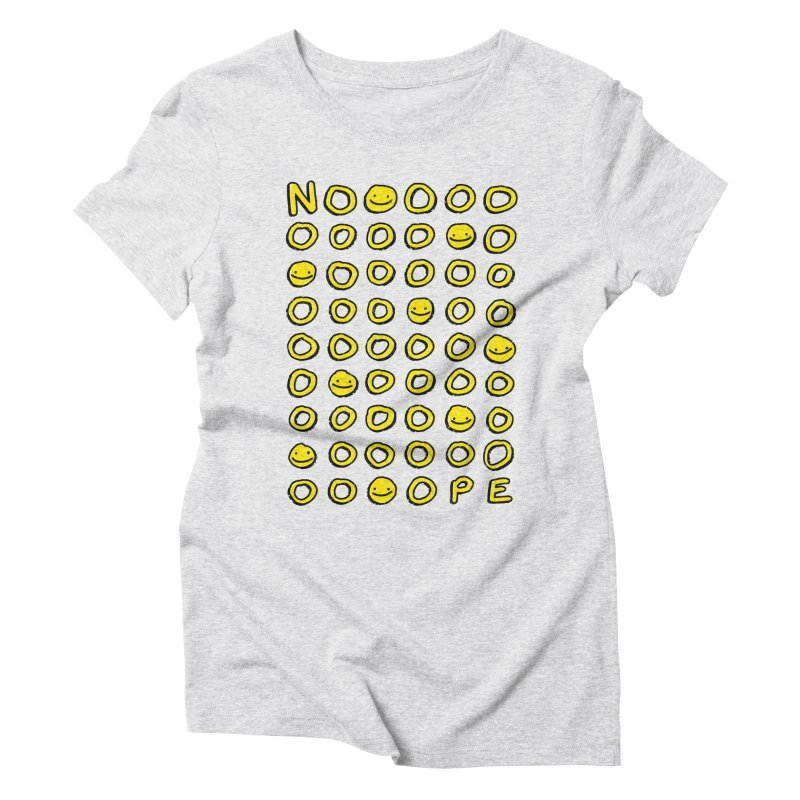 Say It With A Smile Women's Triblend T-Shirt by MidnightCoffee
