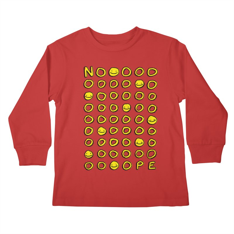 Say It With A Smile Kids Longsleeve T-Shirt by MidnightCoffee